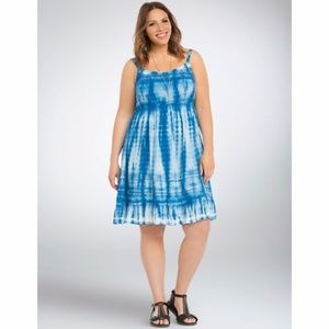 New Torrid Challis Tie Dye Sleeveless Midi Dress